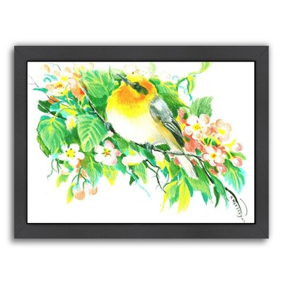 Songbird, Warbler Framed Painting Size: 11
