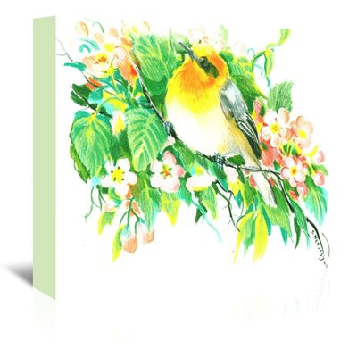 Songbird, Warbler Painting on Wrapped Canvas Size: 11