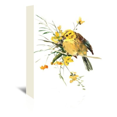 Yellowhammer Painting Print on Wrapped Canvas