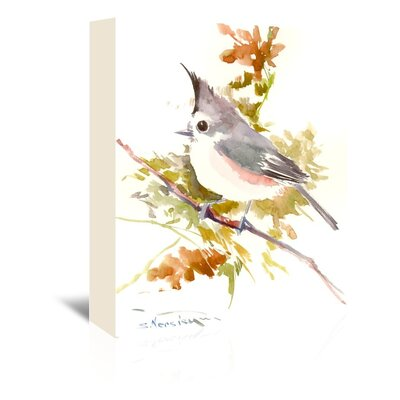 Titmouse Painting Print on Wrapped Canvas