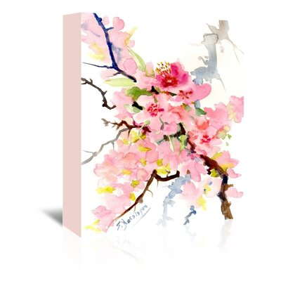 Cherry Blossom 3 Painting Print on Wrapped Canvas