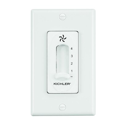 Glenfield Four Speed Fan Slider Wall Control Finish: Ivory