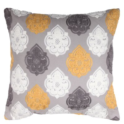 Ramblewood 100% Cotton Throw Pillow Color: Gray/Yellow