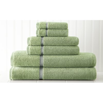 6 Piece Towel Set Color: Green