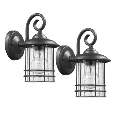 Flintwood 1-Light Outdoor Wall Lantern Finish: Painted Black