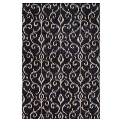 Eagleview Black Area Rug Rug Size: Rectangle 5 x 8