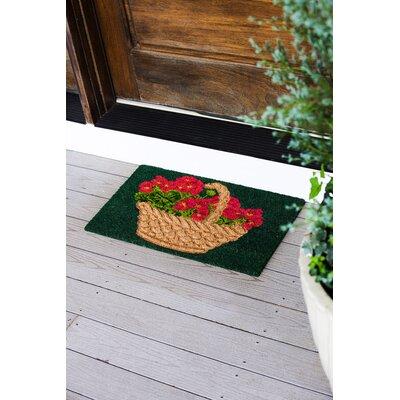 Hallstead Geranium Basket Doormat