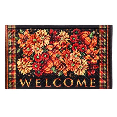 Hackler Sunflowers Welcome Embossed Doormat