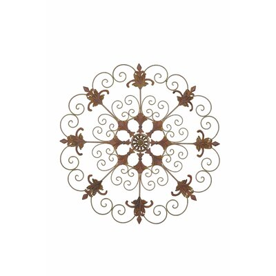 Metal Garden Crest Laser Cut Metal Wall Décor