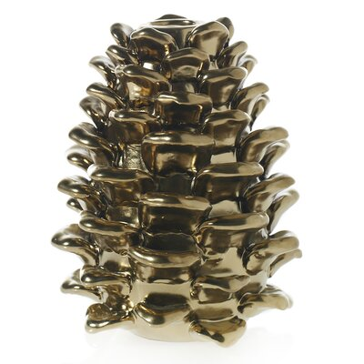 Alcott Hill Pine Cone Metal Candlestick