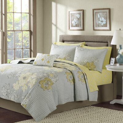 Nellie Coverlet Set Size: King, Color: Grey