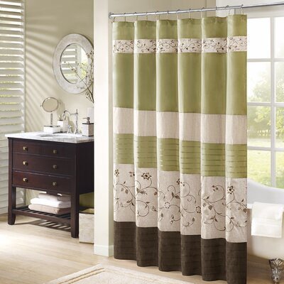 Elliott Shower Curtain Size: 72 H x 72 W, Color: Green