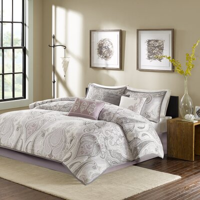 Ogden 7 Piece Comforter Set Size: Queen, Color: Purple