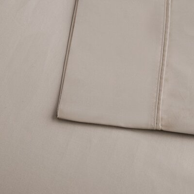 Crosby 400 Thread Count Solid Cotton Sheet Set Size: Queen, Color: Taupe
