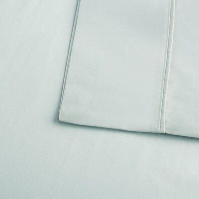Crosby 400 Thread Count Solid Cotton Sheet Set Size: California King, Color: Seafoam