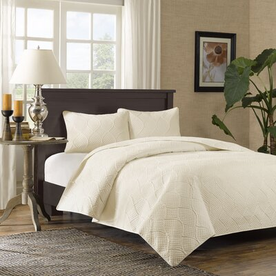 Hadley 3 Piece Bedspread Set Size: Full / Queen, Color: Ivory