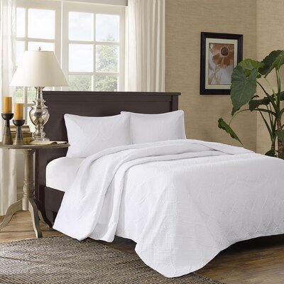 Hadley 3 Piece Bedspread Set Size: Full / Queen, Color: White