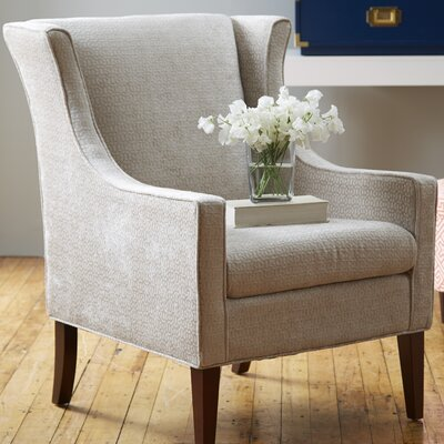 Matherville Wingback Chair Upholstrey: Cream