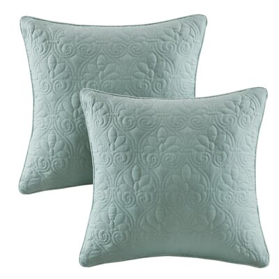 Emy Quilted Throw Pillow Color: Seafoam
