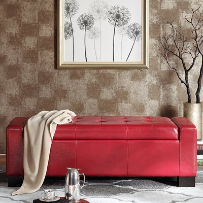 Valerie Storage Bedroom Bench Color: Red