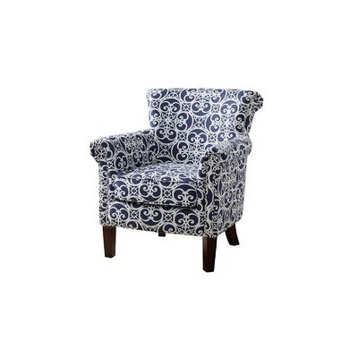 Olson Armchair Upholstery: Navy/White