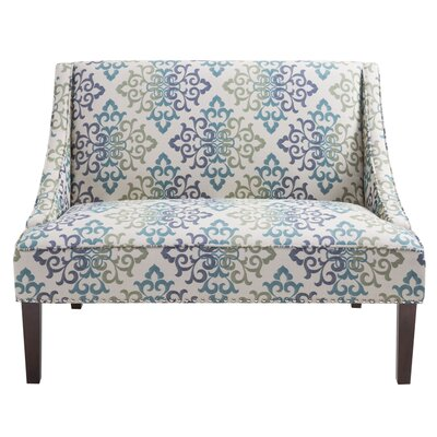 Alcott Hill Prenda Scroll Damask Settee