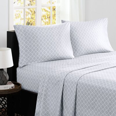 Washburn 200 Thread Count Cotton Sheet Set Size: California King, Color: Gray