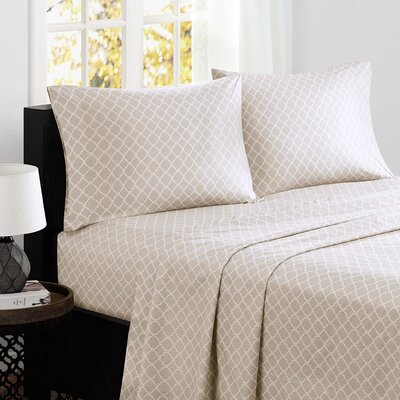 Washburn 200 Thread Count Cotton Sheet Set Size: Full, Color: Tan