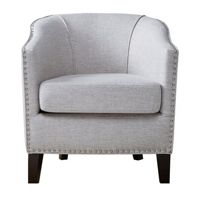 Stansbury Barrel Chair Upholstery: Cream