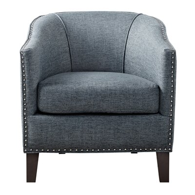 Stansbury Barrel Chair Upholstery: Slate Blue