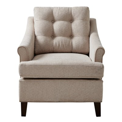 Frasier Tufted Arm Chair Upholstery: Sand