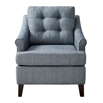 Frasier Tufted Arm Chair Upholstery: Navy