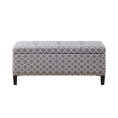 Bretton II Tufted Top Storage Ottoman Upholstery: Grey