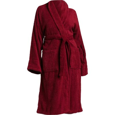 Patric Bathrobe Size: Medium, Color: Burgundy