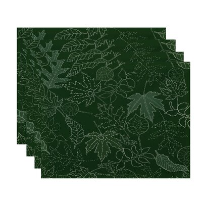 Maxson Dotted Leaves Floral Print Placemat