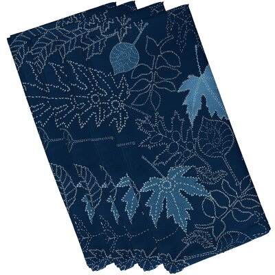 Maxson Dotted Leaves Floral Print Napkin