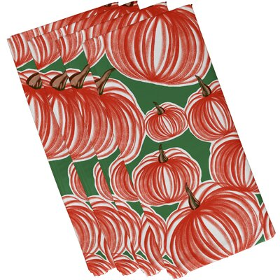 Maxson Pumpkins-A-Plenty Print Napkin Color: Green