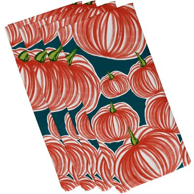 Maxson Pumpkins-A-Plenty Print Napkin Color: Teal