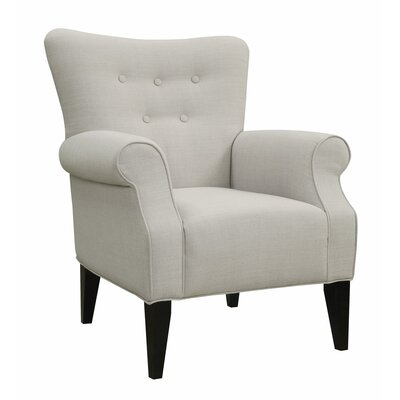 Manz Button Back Armchair Upholstery: Cement