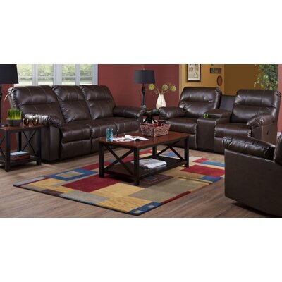 Serta Upholstery Corwin DBL Reclining Sofa Upholstery: SanMarChocolate