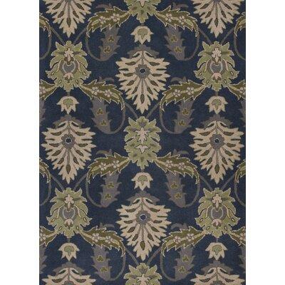 Linnet Hand-Tufted Slate Blue Area Rug Rug Size: 33 x 53