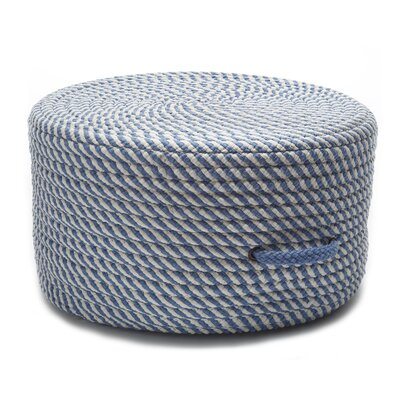 Carron Cocktail Ottoman Upholstery Color: Blue Ice/White