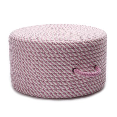 Carron Cocktail Ottoman Upholstery Color: Pink/White