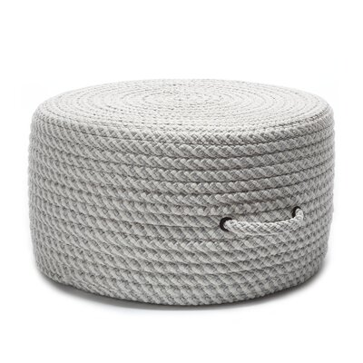 Lewis Ottoman Upholstery Color: Shadow/White