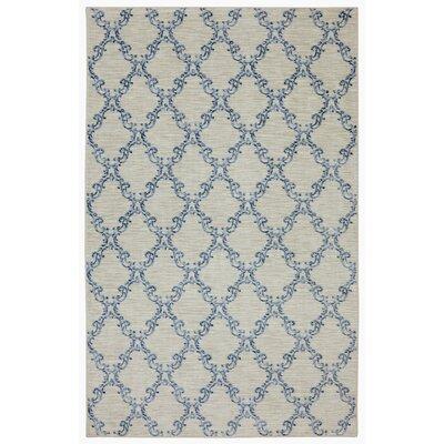 Gages Mirabel Sand & Blue Area Rug Rug Size: 5' x 8'