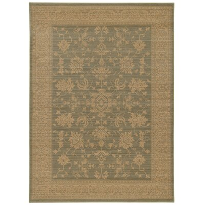 Douglassville Oriental Blue/Beige Area Rug Rug Size: Rectangle 52 x 76