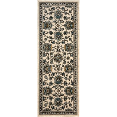 Duanesburg  Cream Area Rug Rug Size: Runner 27 x 73