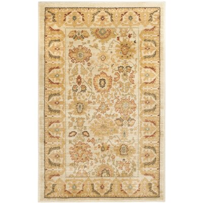 Blue Point Cream Area Rug Rug Size: Rectangle 26 x 4