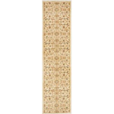 Dunbar Gold/Cream Area Rug Rug Size: Runner 23 x 8