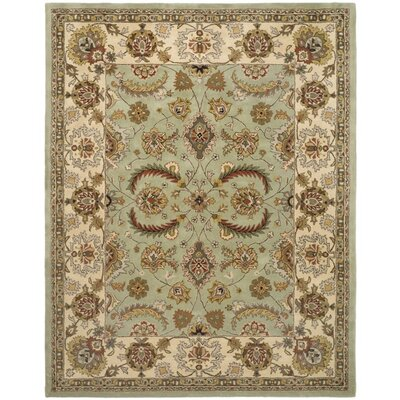 Fenner Light Green/Ivory Area Rug Rug Size: Rectangle 5 x 8